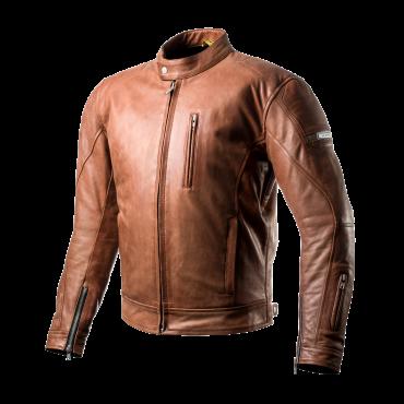 SHIMA HUNTER Motorcycle Brown Jacket in Vintage Style